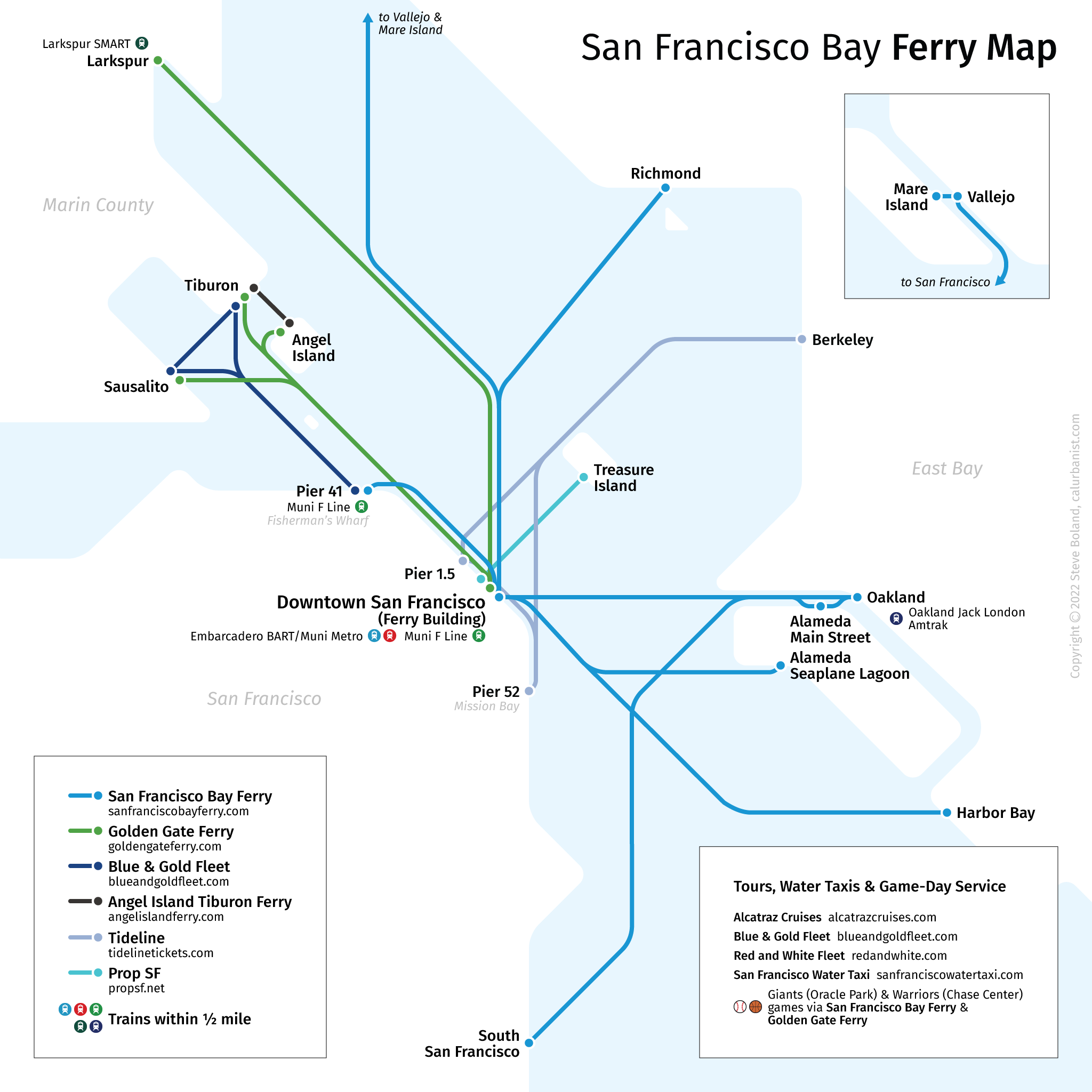 Picture of: San Francisco Bay Ferries Transit Maps By Calurbanist