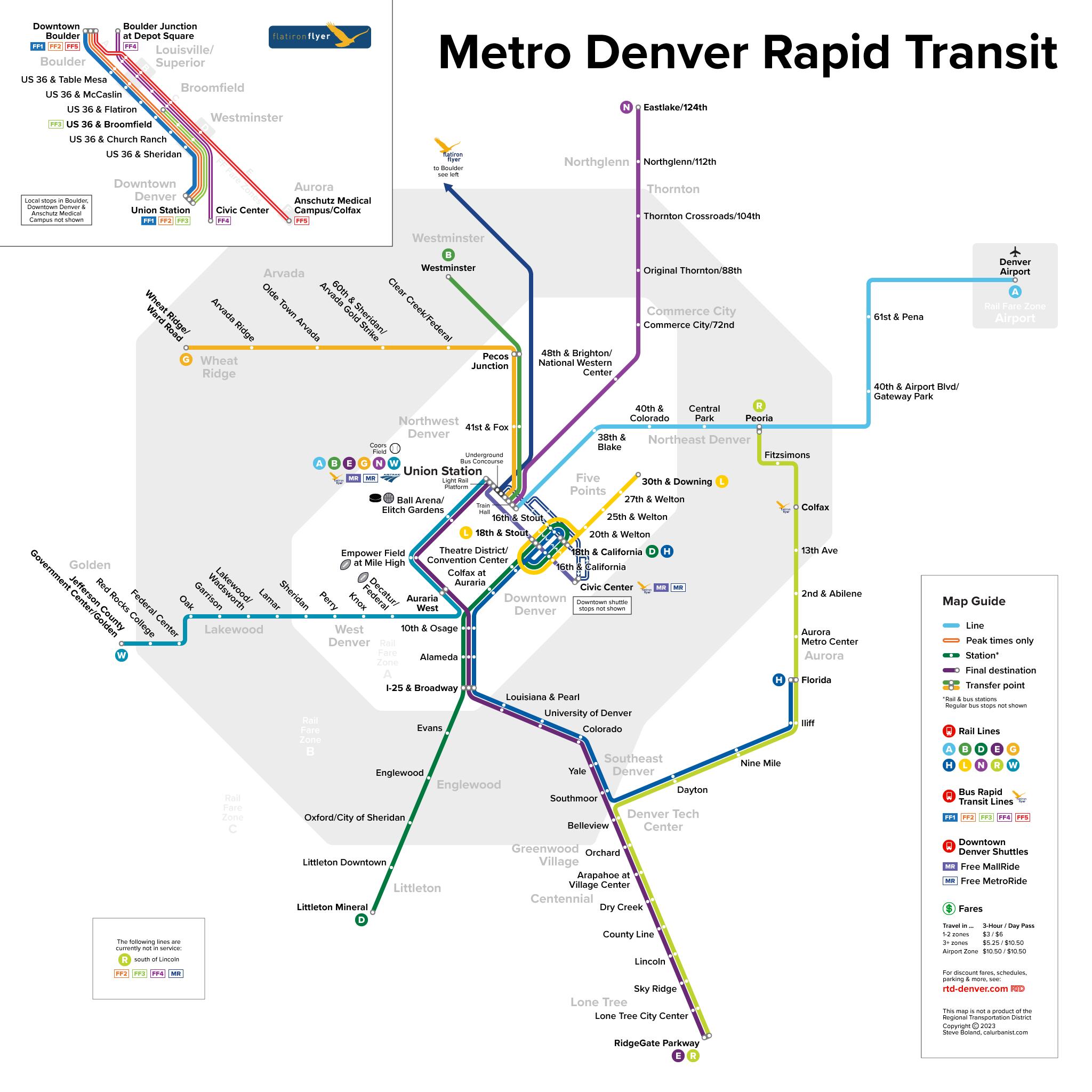 denver light rail map pdf Calurbanist Transit Maps Posters By Calurbanist denver light rail map pdf