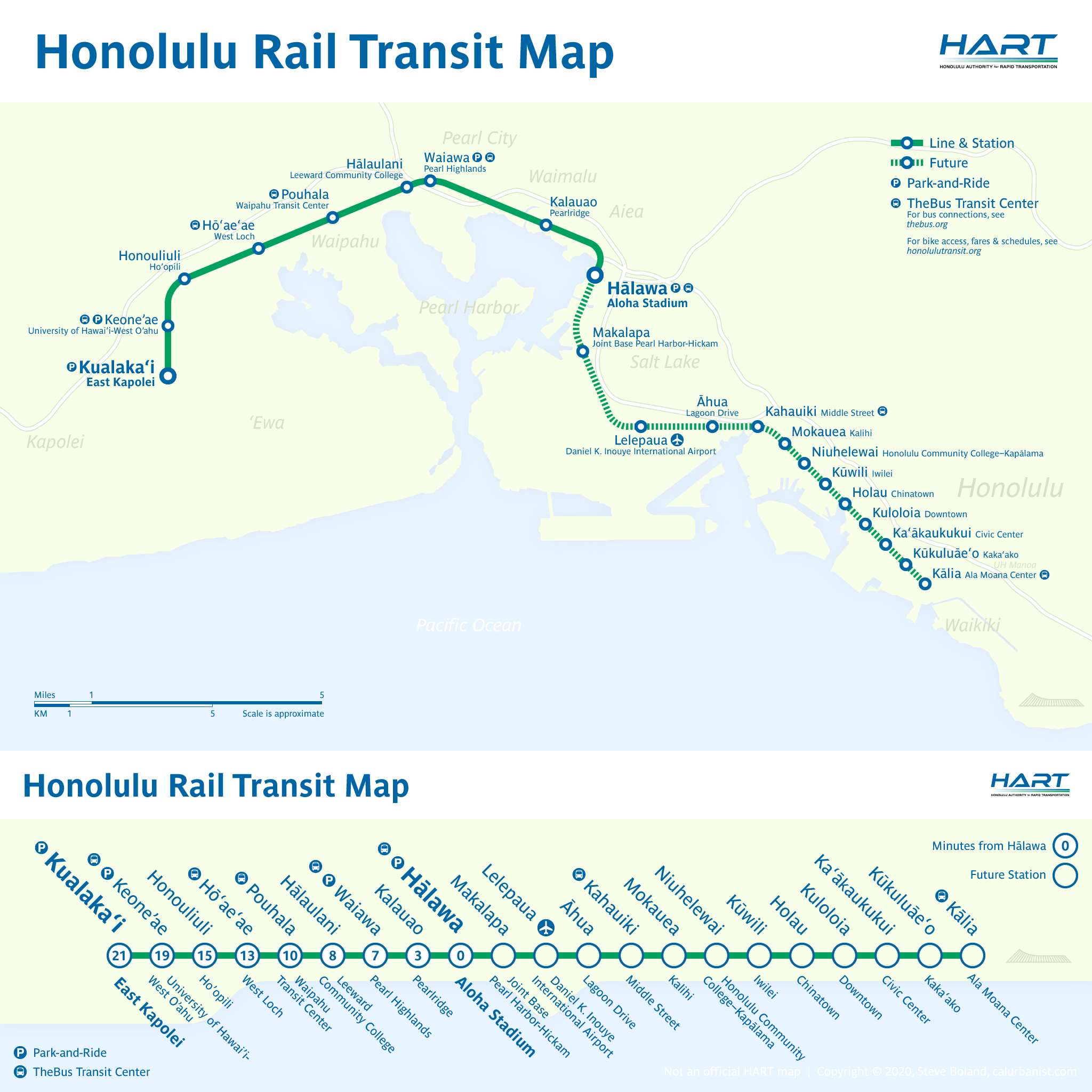 Honolulu Rail Transit Maps by CalUrbanist