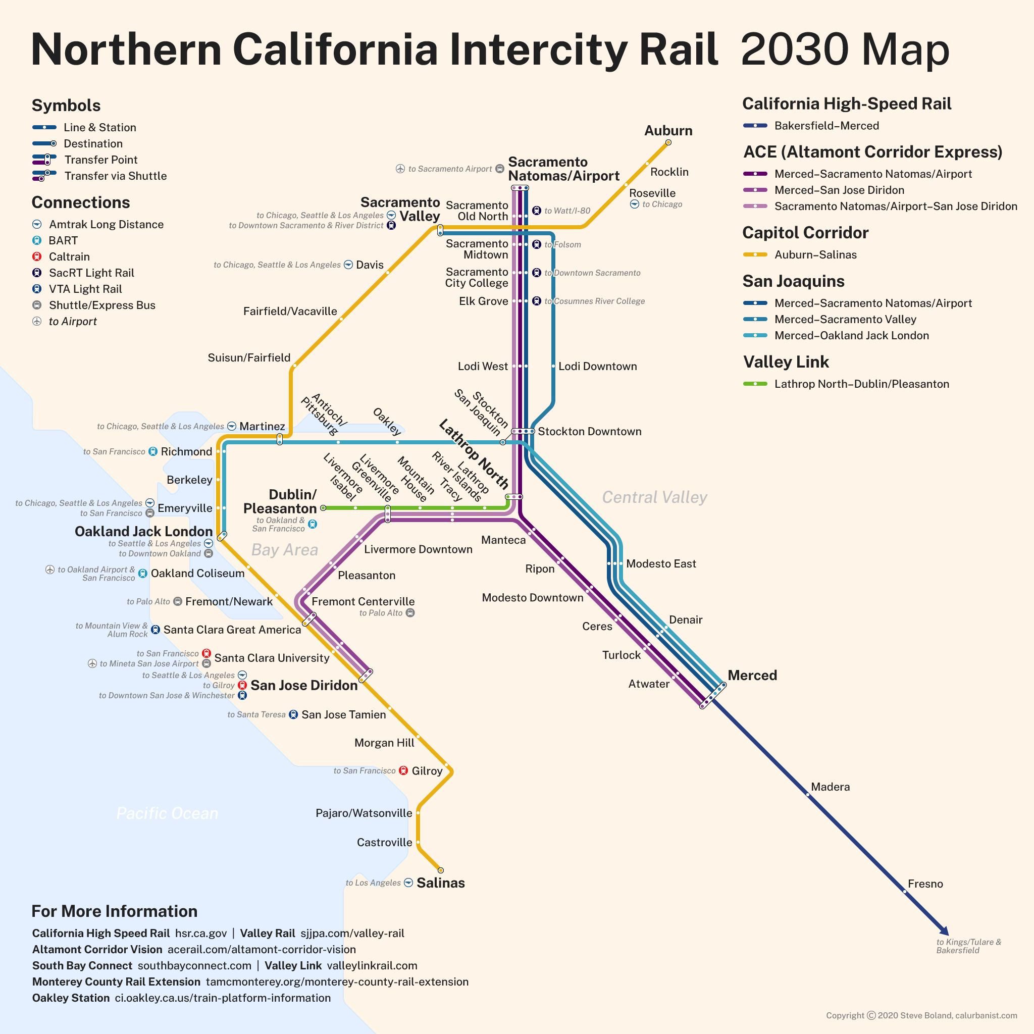 Northern California Intercity Rail Transit Maps By Calurbanist Bay area rapid transit (bart) is a heavy rail rapid transit system in the san francisco bay area in california, united states. transit maps by calurbanist